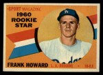 1960 Topps #132  Rookie Stars  -  Frank Howard Front Thumbnail