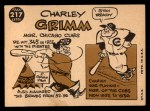 1960 Topps #217   Charley Grimm   Back Thumbnail