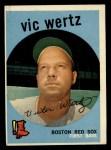 1959 Topps #500   Vic Wertz Front Thumbnail
