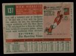 1959 Topps #137  Rookies  -  Dick Ricketts Back Thumbnail