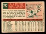 1959 Topps #282   R.C. Stevens Back Thumbnail