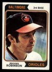 1974 Topps #160  Brooks Robinson  Front Thumbnail