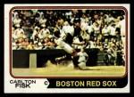 1974 Topps #105  Carlton Fisk  Front Thumbnail