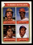 1974 Topps #598   Rookie Outfielders     -  Ken Griffey / Dave Augustine / Steve Ontiveros / Jim Tyrone Front Thumbnail