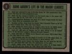 1974 Topps #5  Hank Aaron Special 66-69  -  Hank Aaron Back Thumbnail