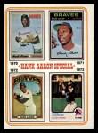 1974 Topps #6   -  Hank Aaron Hank Aaron Special 70-73 Front Thumbnail