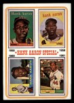 1974 Topps #3   -  Hank Aaron Hank Aaron Special 58-61 Front Thumbnail