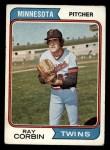 1974 Topps #296   Ray Corbin Front Thumbnail