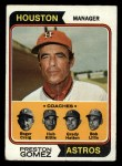 1974 Topps #31  Astros Field Leaders  -  Preston Gomez / Roger Craig / Grady Hatton / Hub Kittle / Bob Lillis Front Thumbnail