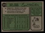 1974 Topps #375   Earl Williams Back Thumbnail
