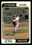 1974 Topps #595  Steve Blass  Front Thumbnail