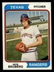 1974 Topps #425   Pete Broberg Front Thumbnail