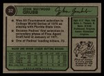 1974 Topps #32 SD Johnny Grubb  Back Thumbnail
