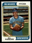 1974 Topps #574  Bill Parsons  Front Thumbnail