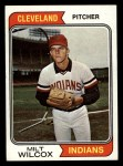 1974 Topps #565   Milt Wilcox Front Thumbnail