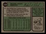 1974 Topps #199   Mike Kekich Back Thumbnail