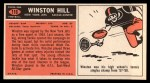 1965 Topps #116   Winston Hill Back Thumbnail