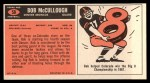 1965 Topps #58   Bob McCullough Back Thumbnail