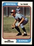 1974 Topps #297  Hal Breeden  Front Thumbnail