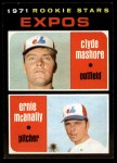 1971 Topps #376   Expos Rookie Stars  -  Clyde Mashore / Ernie McNally Front Thumbnail