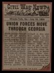 1962 Topps Civil War News #71  No Escape  Back Thumbnail