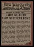 1962 Topps Civil War News #41   Protecting His Family Back Thumbnail