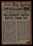 1962 Topps Civil War News #20  Death Fall  Back Thumbnail