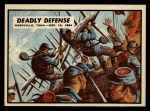 1962 Topps Civil War News #81  Deadly Defense  Front Thumbnail