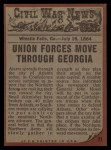 1962 Topps Civil War News #71   No Escape Back Thumbnail