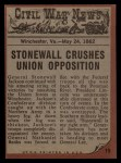 1962 Topps Civil War News #19  Pushed to his Doom  Back Thumbnail