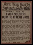 1962 Topps Civil War News #41   Protecting His Family Back Thumbnail
