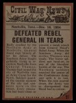 1962 Topps Civil War News #81  Deadly Defense  Back Thumbnail