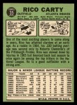 1967 Topps #35  Rico Carty  Back Thumbnail