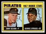 1967 Topps #472  Pirates Rookies  -  John Gelner / George Spriggs Front Thumbnail
