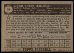 1952 Topps #16 BLK Gene Hermanski  Back Thumbnail