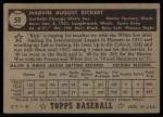 1952 Topps #50 BLK  Marv Rickert Back Thumbnail