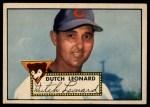 1952 Topps #110   Dutch Leonard Front Thumbnail