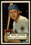 1952 Topps #224   Bruce Edwards Front Thumbnail