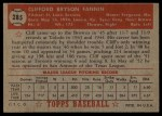 1952 Topps #285  Cliff Fannin  Back Thumbnail