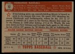 1952 Topps #12 RED Monty Basgall  Back Thumbnail