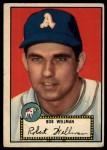 1952 Topps #41 BLK  Bob Wellman Front Thumbnail
