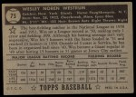 1952 Topps #75 BLK Wes Westrum  Back Thumbnail