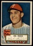 1952 Topps #223   Del Ennis Front Thumbnail