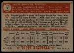 1952 Topps #2 RED  Pete Runnels Back Thumbnail