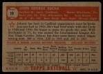 1952 Topps #19 RED  Johnny Bucha Back Thumbnail