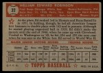 1952 Topps #32 RED  Eddie Robinson Back Thumbnail