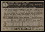 1952 Topps #41 BLK  Bob Wellman Back Thumbnail