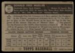 1952 Topps #52 BLK  Don Mueller Back Thumbnail