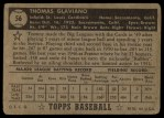 1952 Topps #56 BLK Tommy Glaviano  Back Thumbnail