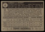 1952 Topps #61 BLK Tookie Gilbert  Back Thumbnail
